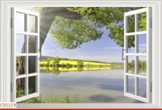 Hình ảnh Tranh dán tường cửa sổ CS0129