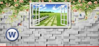 Hình ảnh Tranh dán tường cửa sổ CS013