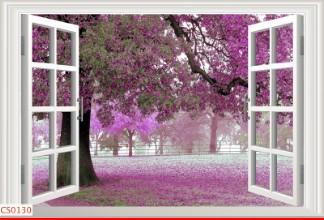 Hình ảnh Tranh dán tường cửa sổ CS0130