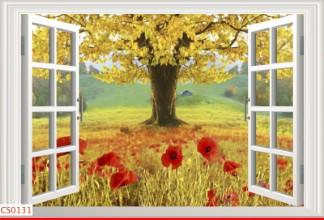 Hình ảnh Tranh dán tường cửa sổ CS0131