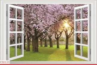 Hình ảnh Tranh dán tường cửa sổ CS0133