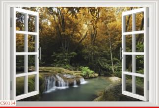 Hình ảnh Tranh dán tường cửa sổ CS0134