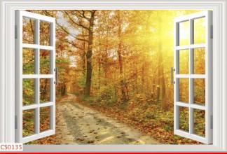Hình ảnh Tranh dán tường cửa sổ CS0135
