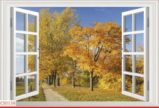 Hình ảnh Tranh dán tường cửa sổ CS0136