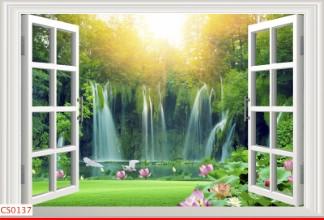 Hình ảnh Tranh dán tường cửa sổ CS0137