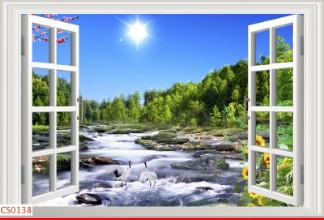 Hình ảnh Tranh dán tường cửa sổ CS0138