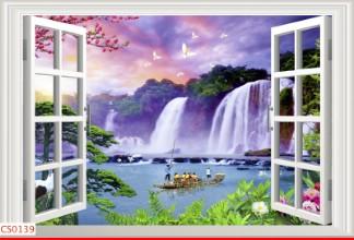 Hình ảnh Tranh dán tường cửa sổ CS0139