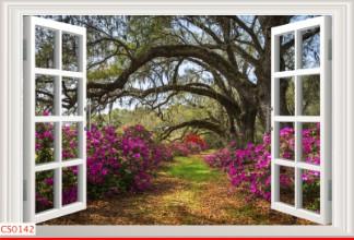 Hình ảnh Tranh dán tường cửa sổ CS0142