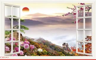 Hình ảnh Tranh dán tường cửa sổ CS0143