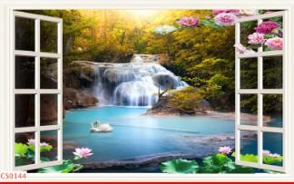 Hình ảnh Tranh dán tường cửa sổ CS0144