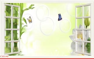 Hình ảnh Tranh dán tường cửa sổ CS0146