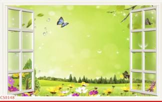 Hình ảnh Tranh dán tường cửa sổ CS0148