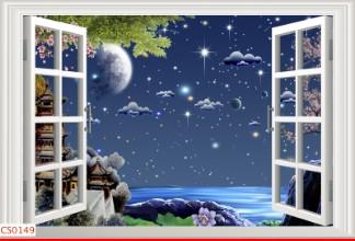 Hình ảnh Tranh dán tường cửa sổ CS0149