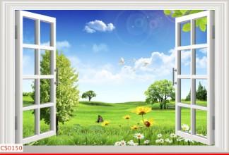 Hình ảnh Tranh dán tường cửa sổ CS0150