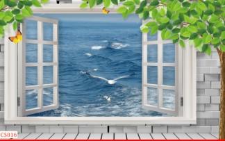 Hình ảnh Tranh dán tường cửa sổ CS016