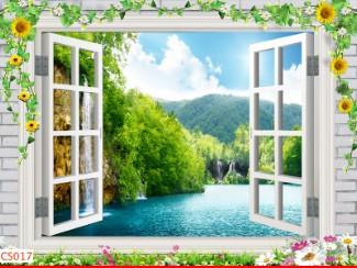 Hình ảnh Tranh dán tường cửa sổ CS017
