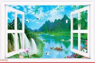 Hình ảnh Tranh dán tường cửa sổ CS018