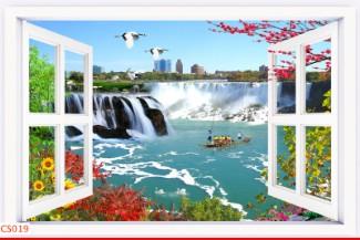 Hình ảnh Tranh dán tường cửa sổ CS019