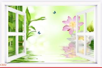 Hình ảnh Tranh dán tường cửa sổ CS02