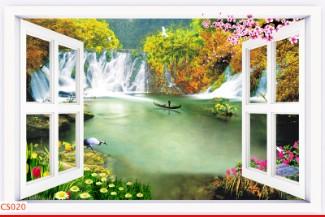 Hình ảnh Tranh dán tường cửa sổ CS020