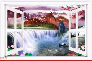 Hình ảnh Tranh dán tường cửa sổ CS021