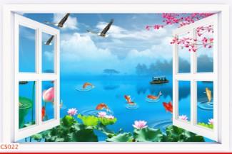 Hình ảnh Tranh dán tường cửa sổ CS022