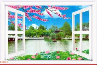 Hình ảnh Tranh dán tường cửa sổ CS023