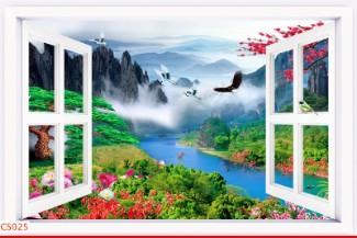 Hình ảnh Tranh dán tường cửa sổ CS025