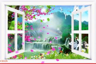 Hình ảnh Tranh dán tường cửa sổ CS026