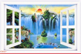Hình ảnh Tranh dán tường cửa sổ CS027