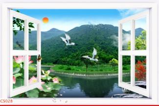 Hình ảnh Tranh dán tường cửa sổ CS028