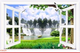Hình ảnh Tranh dán tường cửa sổ CS029