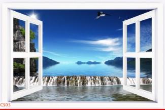 Hình ảnh Tranh dán tường cửa sổ CS03