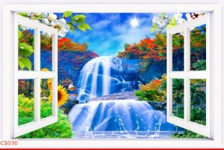 Hình ảnh Tranh dán tường cửa sổ CS030