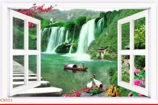 Hình ảnh Tranh dán tường cửa sổ CS031