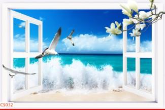 Hình ảnh Tranh dán tường cửa sổ CS032