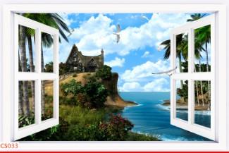 Hình ảnh Tranh dán tường cửa sổ CS033
