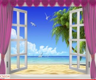 Hình ảnh Tranh dán tường cửa sổ CS034