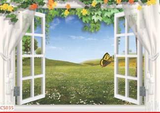 Hình ảnh Tranh dán tường cửa sổ CS035