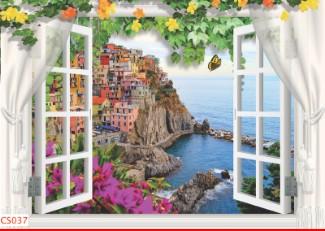 Hình ảnh Tranh dán tường cửa sổ CS037