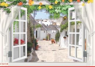 Hình ảnh Tranh dán tường cửa sổ CS038