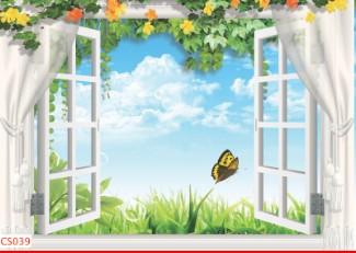 Hình ảnh Tranh dán tường cửa sổ CS039