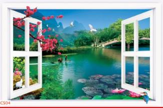 Hình ảnh Tranh dán tường cửa sổ CS04