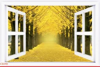 Hình ảnh Tranh dán tường cửa sổ CS040