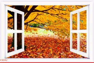 Hình ảnh Tranh dán tường cửa sổ CS042