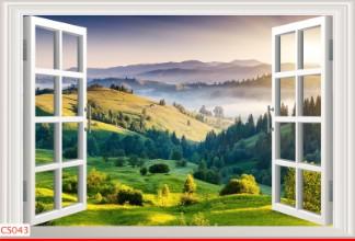 Hình ảnh Tranh dán tường cửa sổ CS043