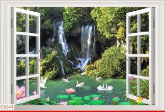 Hình ảnh Tranh dán tường cửa sổ CS044