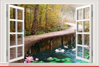 Hình ảnh Tranh dán tường cửa sổ CS045