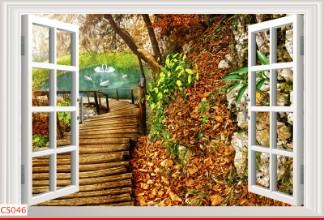 Hình ảnh Tranh dán tường cửa sổ CS046