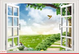 Hình ảnh Tranh dán tường cửa sổ CS047